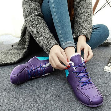 womens comfortable winter casual sports shoes