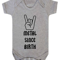 Metal Since Birth Rocker Baby Onesuit