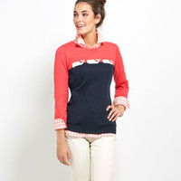 Womens Sweaters: 3 Whales Are Better Than 1 Cashmere/Cotton Sweater
