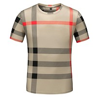 Burberry Fashion Casual Print Shirt Top Tee