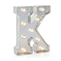"Darice Silver Metal Marquee Letter 9.875""-K"