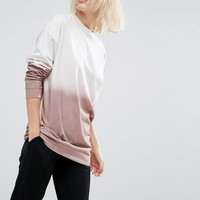 ASOS | ASOS Sweatshirt In Winter Dip Dye at ASOS
