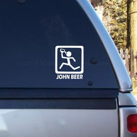 John Beer car decal, graphic decal, vinyl decal, decal, laptop decal, sticker, car sticker, laptop sticker