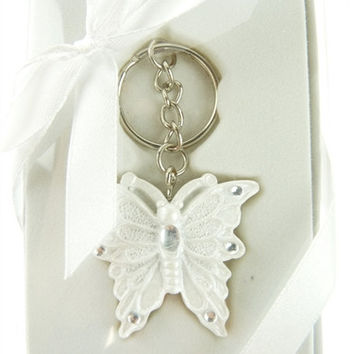 Wedding Anniversary Bridal Baby Shower Party Favor Key Chain - Butterfly