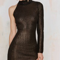 Nightwalker Jungle Jane Metallic Knit Dress