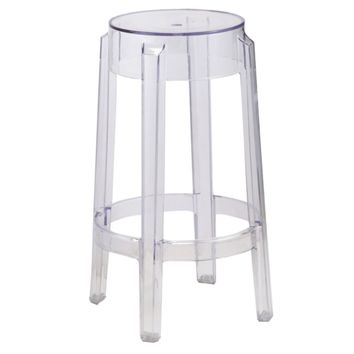 Clear Counter Stool, Clear