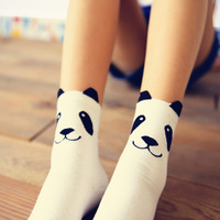 New real caramella character cotton brand meias femininas warm cute cartoon panda korean socks for women Free shipping