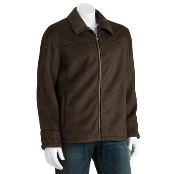 Chaps Faux-Shearling Microsuede Jacket - Men