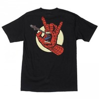 Santa Cruz x Marvel Spiderman Hand T-Shirt - Black