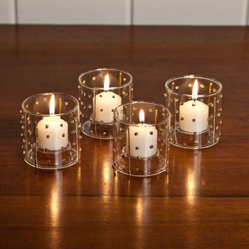Beaded Glass Votive