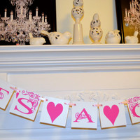 ITS A GIRL Baby Shower Decorations Baby girl Garland Birth Announcement Banner Photo Prop
