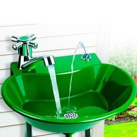 2 in 1 Outdoor Water Fountain and Faucet