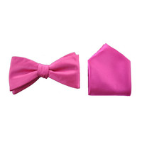 Alfani Mens Satin Solid Bow Tie