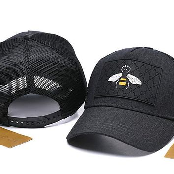 BLACK Queen Bee Gucci Nylon Baseball Cap Unisex Hat Summer Gift