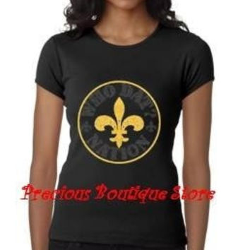 Who DatNation Saints Rhinestone Shirt