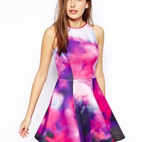 Ted Baker Nim Dress in Summer Dusk Print Neoprene