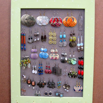 JEWELRY DISPLAY RACK organizer / Light green / 40  50 by tammnoony