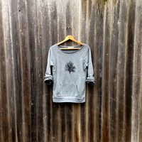 in my shadow Tree Sweatshirt, Yoga Top, Cozy Sweater, S,M,L,XL