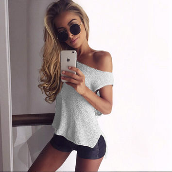 Sleeveless Round Collar Short Sexy Knitting Sweater Vest