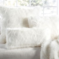 FAUX FUR PILLOW COVER - SUN BEAR, IVORY