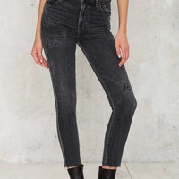 Citizens of Humanity Carlie High Waisted Skinny Jean - Dark Gray