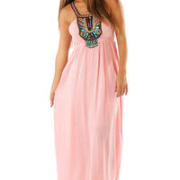 On The Road Again Maxi Dress: Pink