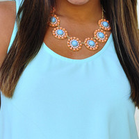 Pretty Little Flowers Necklace: Peach | Hope's