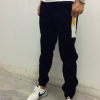 College tide brand THRASHER flame long trousers men and velvet autumn and winter sports pants