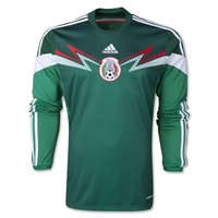 Mexico 2014 Home LS Soccer Jersey - WorldSoccerShop.com