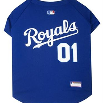 Kansas City Royals Baseball Dog Jersey Small