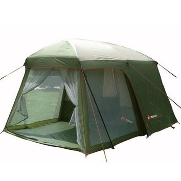 Double layer garden tent 5 8 person large family camping tent