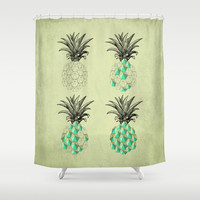 life of a pineapple Shower Curtain by AmDuf