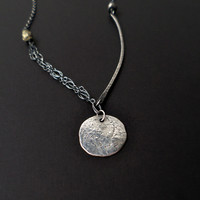 Textured Moon Necklace
