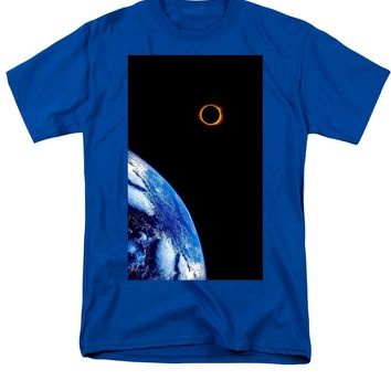 Solar Eclipse From The Space By Adam Asar - Men's T-Shirt  (Regular Fit)