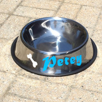 Pet Bowl, Personalized dog bowl, stainless steel pet bowl, Large pet bowl, dog bowl, large dog bowl