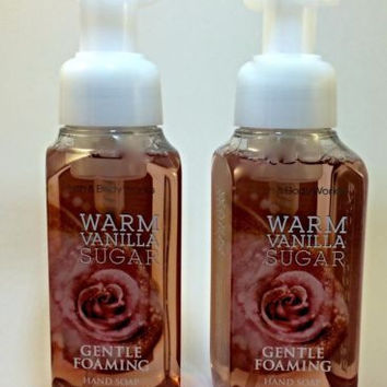 Set OF 2 Bath & Body Works Gentle Foaming Hand Soap Warm Vanilla Sugar 8.75oz