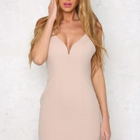 Serial Dater Dress Nude