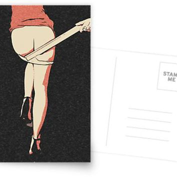 Erotic Postcard, Greeting Card, Photo Card - Spank me Daddy! I was naughty girl! 2