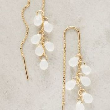Liliaca Threaded Earrings by Anthropologie in White Size: One Size Earrings