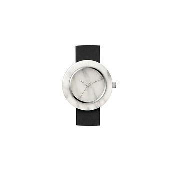 White Marble Circle Body Watch