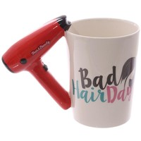 1Piece Ceramic Hair Dryer Mug Ladies Tool Hairdryer Mug Personalized Hairdresser Gift Cosmetologist Gift Salon Owner Coffee Cup
