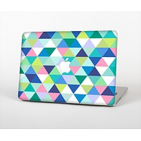 The Vibrant Fun Colored Triangular Pattern Skin Set for the Apple MacBook Air 11""