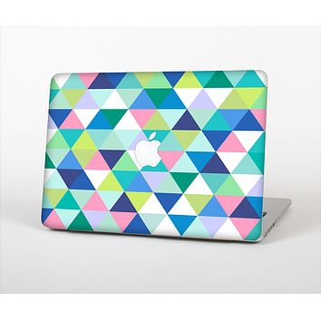 The Vibrant Fun Colored Triangular Pattern Skin Set for the Apple MacBook Pro 13""