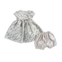 My Princess Wear Baby Girls Metallic Floral Fit and Flare Dress