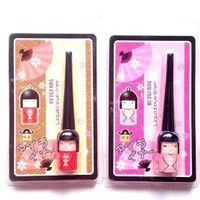 #52106A Cute Japanese Doll Black Waterproof Liquid Eyeliner Smudge Proof Makeup Eye Liner
