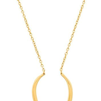 gorjana Gisele Long Necklace in Metallic Gold