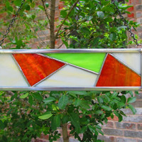 Organic Stained Glass Suncatcher, Colors of Italy