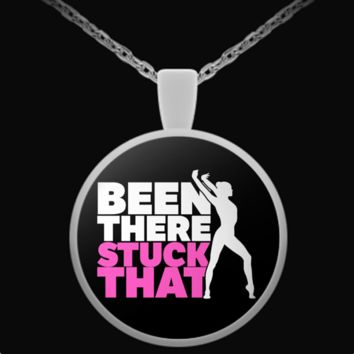 Been There Stuck That - Gymnastics Pendant Necklace