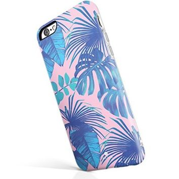 "iPhone 6 6s case for girls, Akna New Glamour Series [All New Design] Flexible Soft TPU cover with Fabulous Matte Pattern for both iPhone 6 & iPhone 6s(4.7""iPhone) [Andaman Beach Palm](3-U.S)"