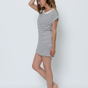 Extra Stripes Jersey dress - Ivory/Black